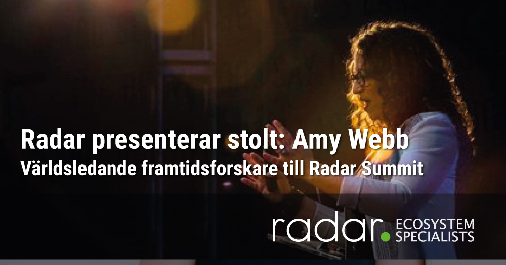 Amy Webb till Radar Summit