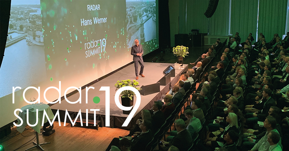 Hans Werner under Radar Summit 2019